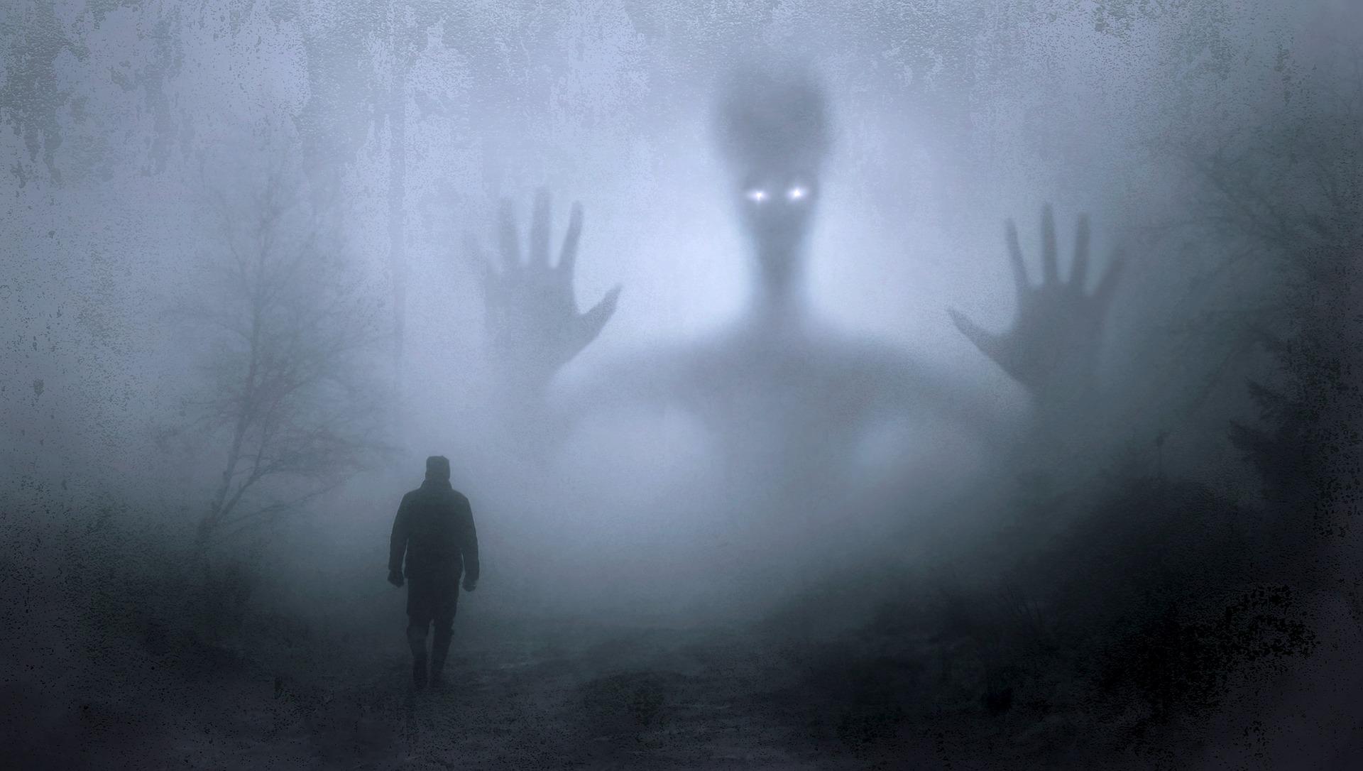 evil spirit in the dark