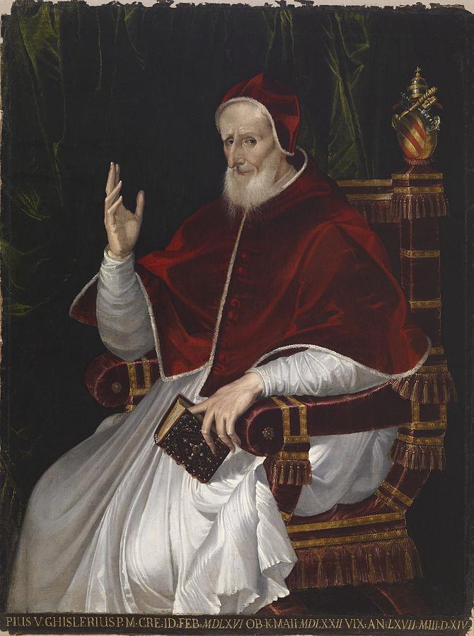 Bartolomeo Passarotti - Portrait of Pope Pius V - Walters 37453