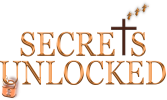 Secrets Unlocked logo with Jesus Cross and three angels